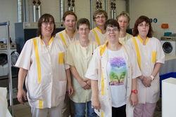 Das Team der Wäscherei Guben.