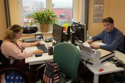 PC-Arbeitsplätze im Bereich Bürokommunikation.