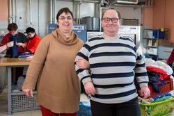 Mitarbeiter der Wäscherei Gallinchen.