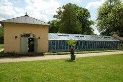 Gewächshäuser in der Schlossgärtnerei Branitz.
