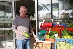 Gemüseverkauf in Guben.