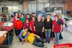 Das Team der Wäscherei Gallinchen.