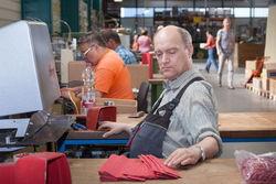 Außenarbeitsplätze im Falkenwerk Peitz.